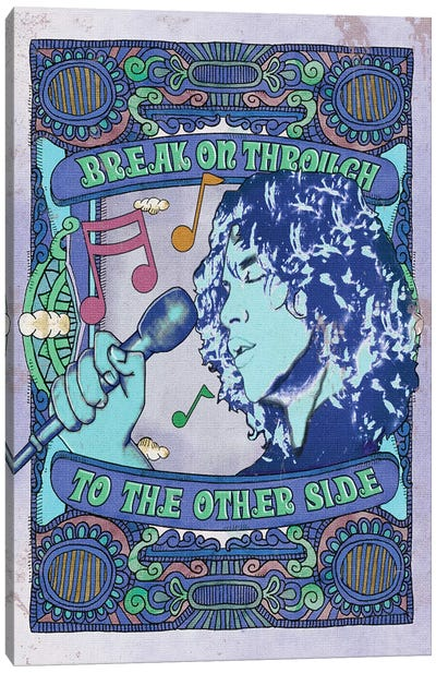 Jim Morrison Break On Through Blue Canvas Art Print