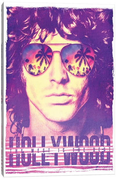 Jim Morrison Hollywood Life Canvas Art Print