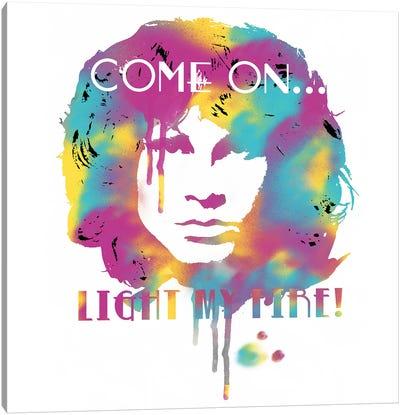Jim Morrison Light My Fire Watercolor Canvas Art Print