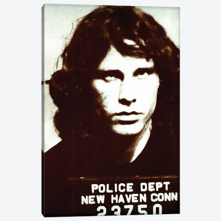 Jim Morrison Mug Shot II Canvas Print #RAD163} by Radio Days Canvas Art Print