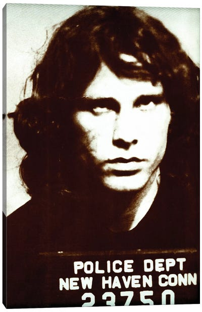 Jim Morrison Mug Shot II Canvas Art Print