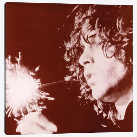 Jim Morrison Sparkler Canvas Print #RAD164} by Radio Days Canvas Art