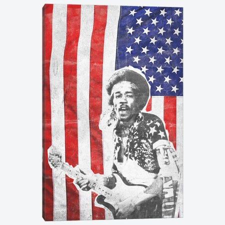 Jimi Hendrix Big Flag Canvas Print #RAD165} by Radio Days Canvas Art
