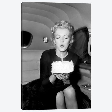 Marilyn Monroe Birthday Party In Car Canvas Print #RAD172} by Radio Days Canvas Wall Art