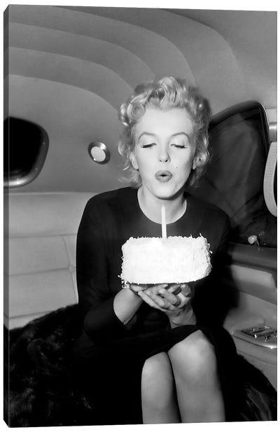 Marilyn Monroe Birthday Party In Car Canvas Art Print