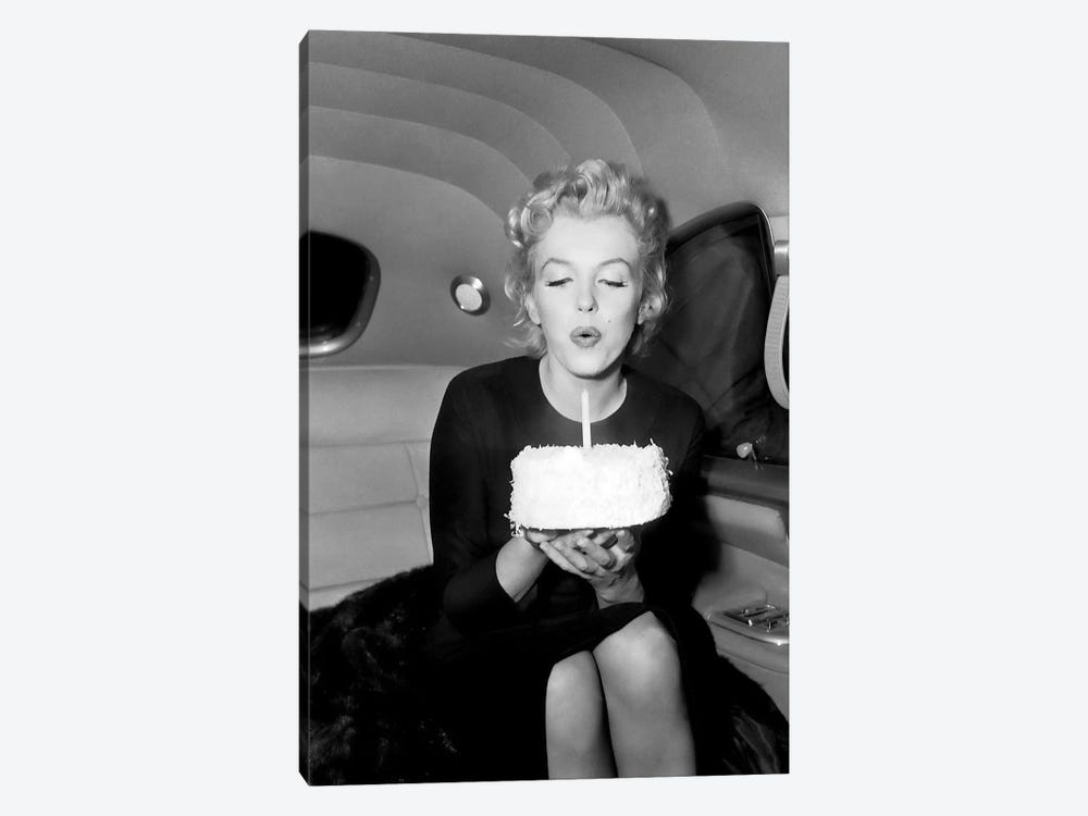 Marilyn Monroe Birthday Party In Car by Radio Days 1-piece Canvas Print