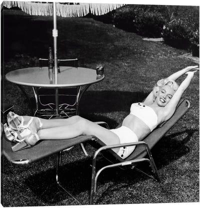 Marilyn Monroe Lawn Chair Canvas Art Print