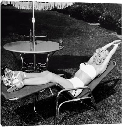 Marilyn Monroe Lawn Chair Canvas Art Print