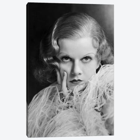 Jane Harlow In Pose Canvas Print #RAD17} by Radio Days Canvas Art