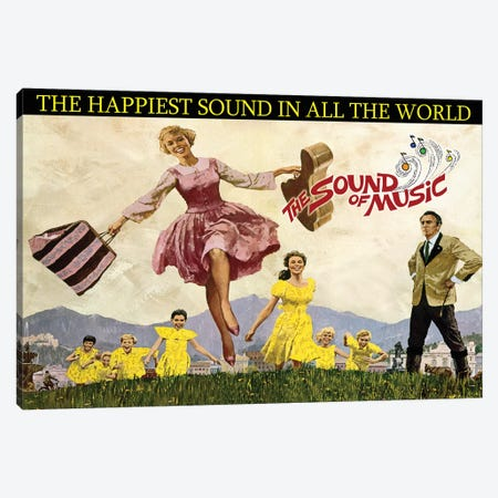 Sound Of Music Poster Canvas Print #RAD181} by Radio Days Canvas Print
