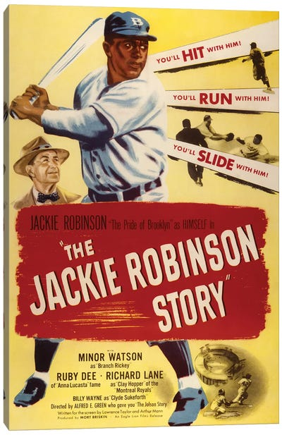 The Jackie Robinson Story Canvas Art Print