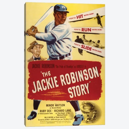 The Jackie Robinson Story Canvas Print #RAD182} by Radio Days Canvas Art Print