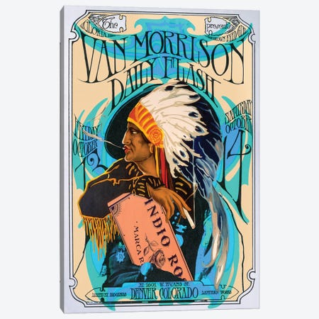 Van Morrison Canvas Print #RAD183} by Radio Days Canvas Art Print