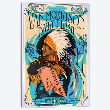 Van Morrison 3-Piece Canvas #RAD183} by Radio Days Canvas Art Print