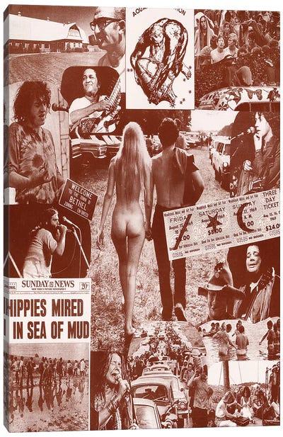 Woodstock Collage Sea Of Mud Canvas Art Print