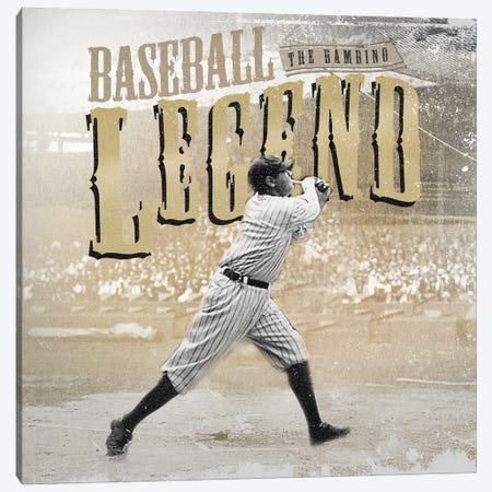 BR Baseball Hitter Canvas Print #RAD191} by Radio Days Canvas Art