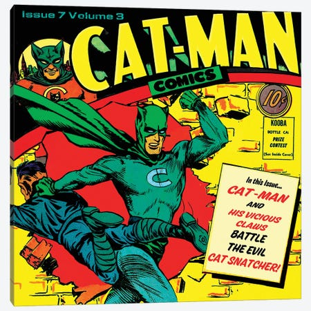 Catman Star Canvas Print #RAD196} by Radio Days Canvas Art Print