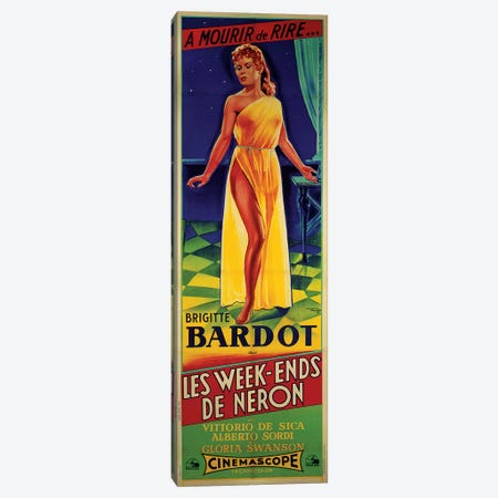 Les Week-ends de Neron Film Poster Canvas Print #RAD1} by Radio Days Canvas Art