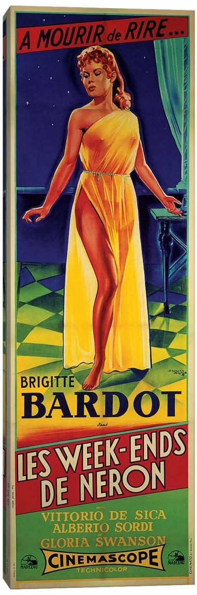 Les Week-ends de Neron Film Poster Canvas Art Print