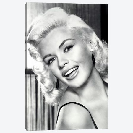 Jayne Mansfield's Gorgeous Smile Canvas Print #RAD20} by Radio Days Canvas Art
