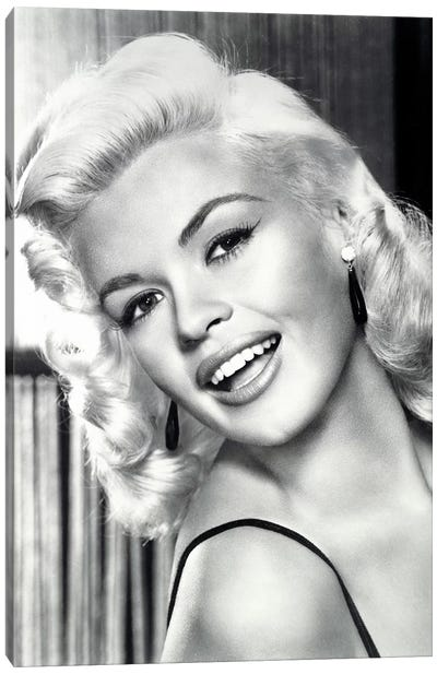 Jayne Mansfield's Gorgeous Smile by Radio Days Canvas Art Print