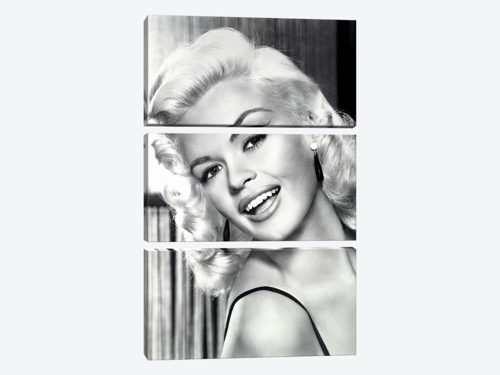 Jayne Mansfield's Gorgeous Smile by Radio Days 3-piece Canvas Wall Art