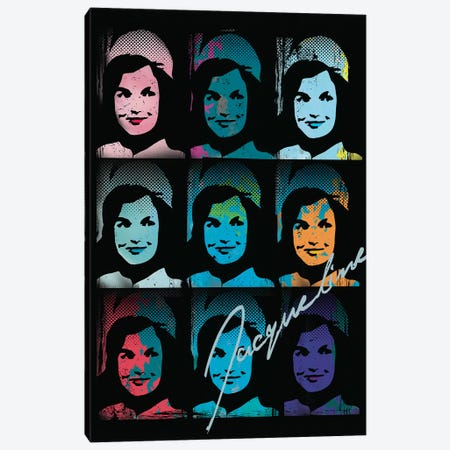 Jacqueline Kennedy Onassis Pop Art Collage Canvas Print #RAD21} by Radio Days Canvas Artwork
