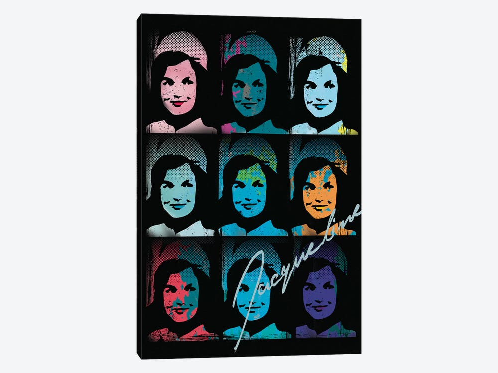Jacqueline Kennedy Onassis Pop Art Collage by Radio Days 1-piece Art Print