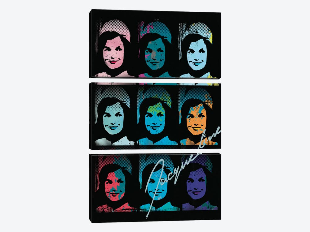Jacqueline Kennedy Onassis Pop Art Collage by Radio Days 3-piece Art Print