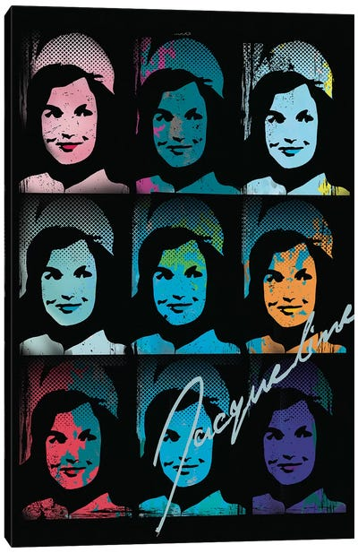 Jacqueline Kennedy Onassis Pop Art Collage Canvas Art Print