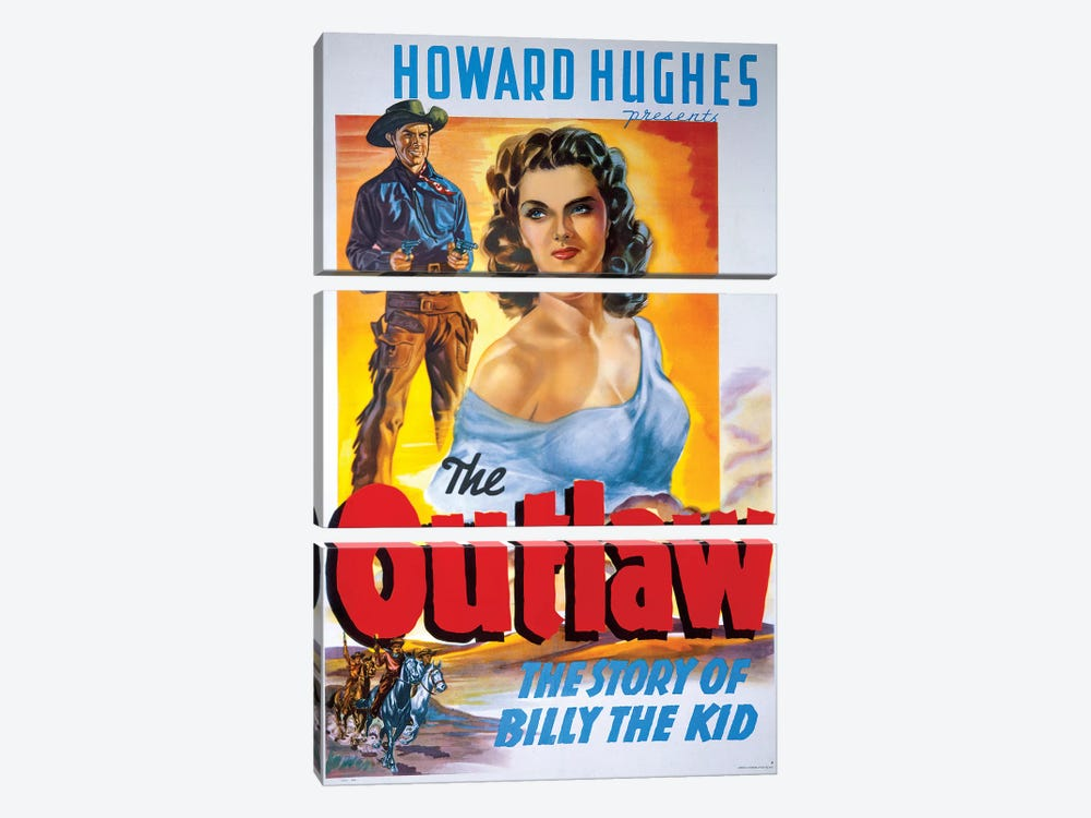The Outlaw Film Poster by Radio Days 3-piece Canvas Artwork