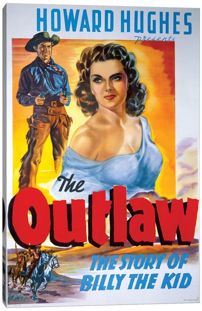 The Outlaw Film Poster Canvas Art Print