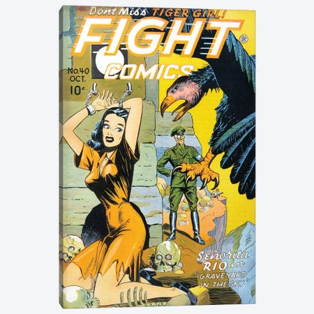 Fight 40 Oct Canvas Print #RAD234} by Radio Days Canvas Art
