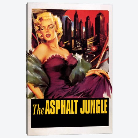 The Asphalt Jungle Film Poster (w/o Credits) Canvas Print #RAD23} by Radio Days Canvas Wall Art
