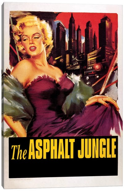 The Asphalt Jungle Film Poster (w/o Credits) Canvas Art Print