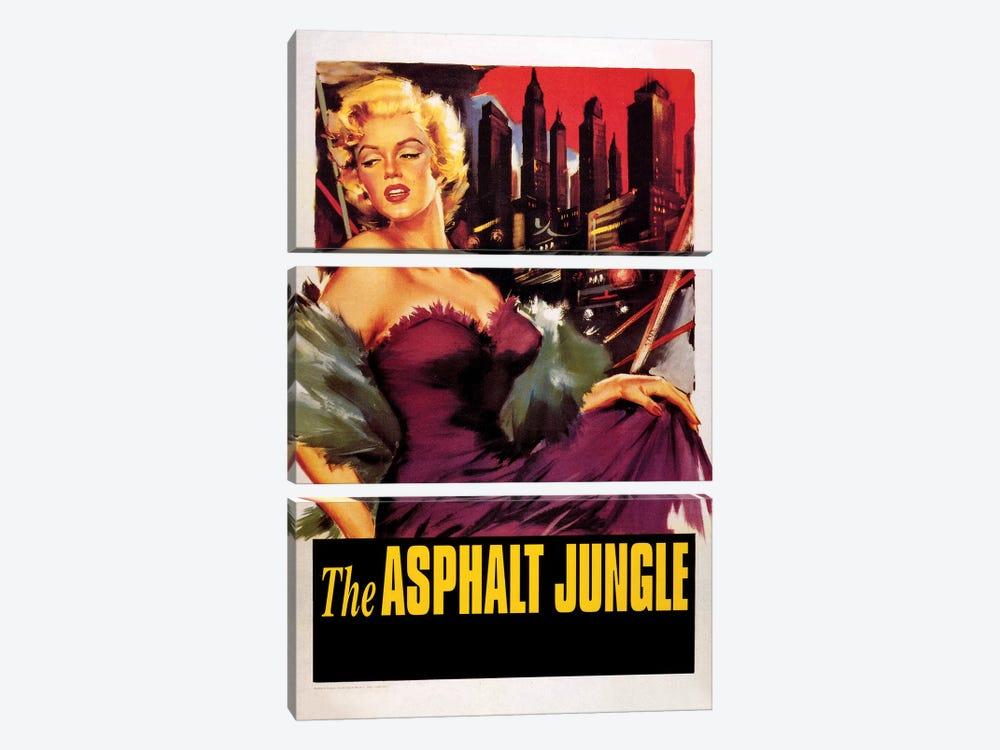 The Asphalt Jungle Film Poster (w/o Credits) by Radio Days 3-piece Canvas Print