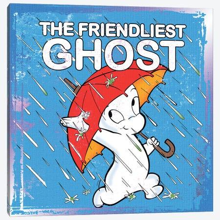 Friendliest Ghost In The Rain Canvas Print #RAD240} by Radio Days Canvas Wall Art