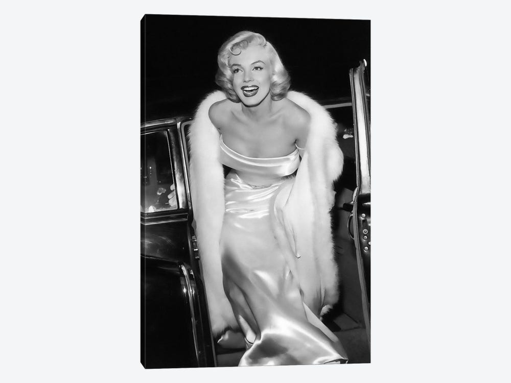 Marilyn Monroe Stepping Out Of Limousine by Radio Days 1-piece Canvas Print
