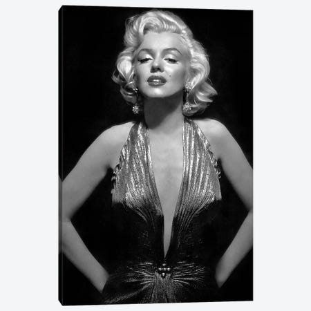 The Iconic Marilyn Monroe Canvas Print #RAD27} by Radio Days Canvas Print