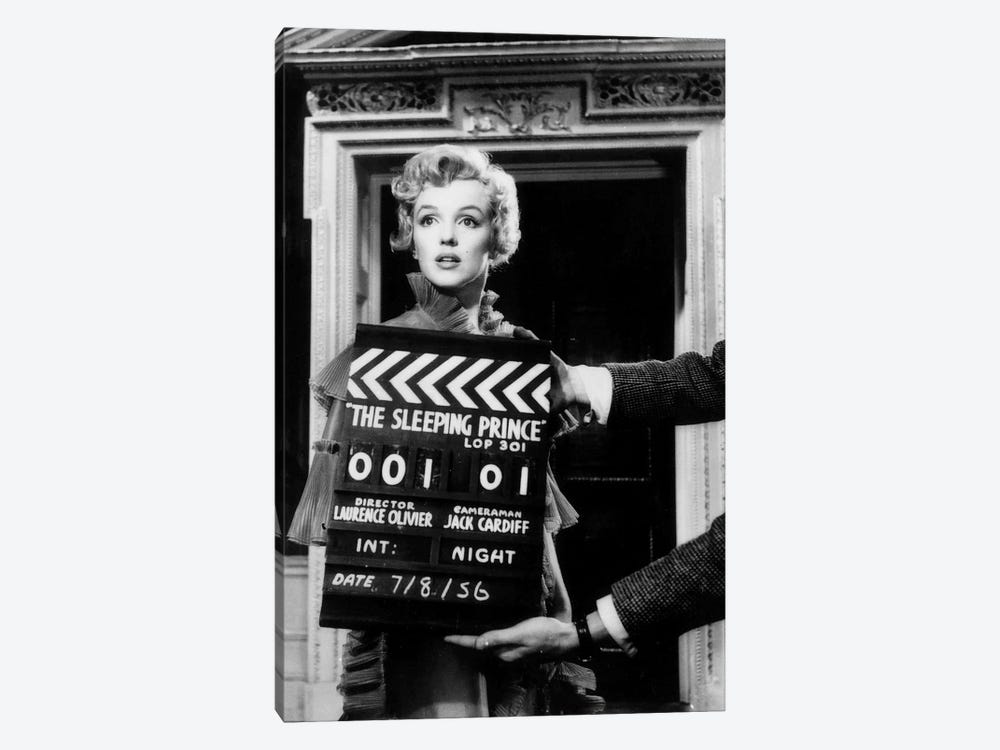 Marilyn Monroe On The Set Of The Sleeping Prince by Radio Days 1-piece Art Print