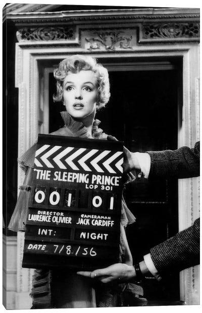 Marilyn Monroe On The Set Of The Sleeping Prince Canvas Art Print