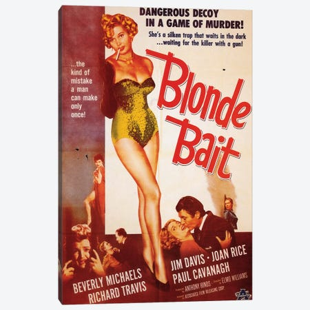 Blonde Bait Film Poster Canvas Print #RAD2} by Radio Days Canvas Artwork