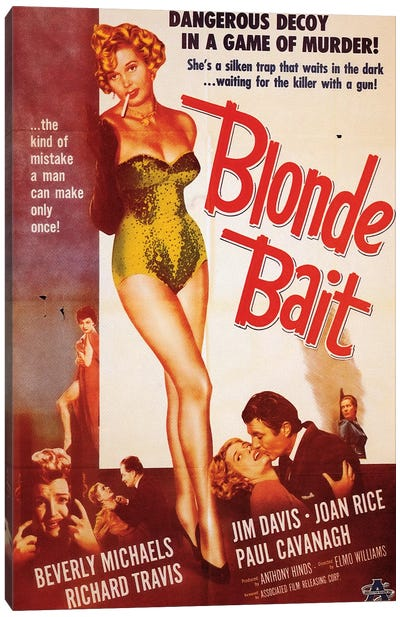 Blonde Bait Film Poster Canvas Art Print