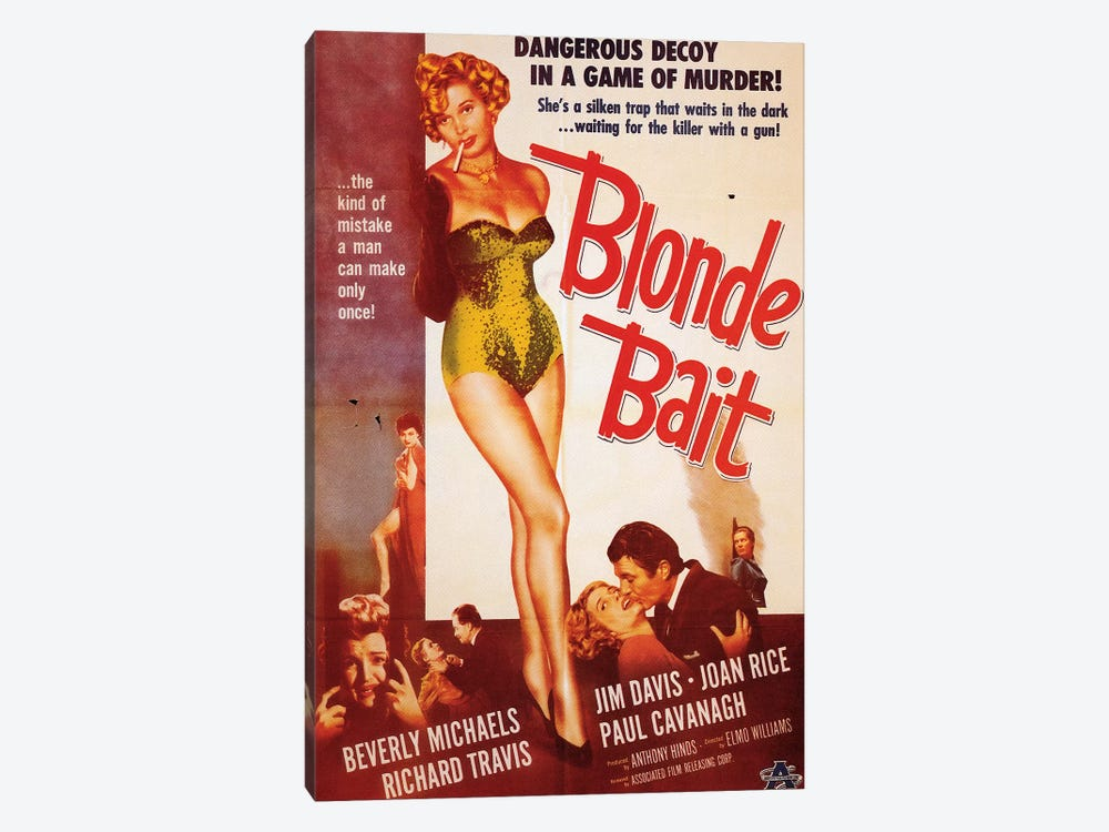 Blonde Bait Film Poster by Radio Days 1-piece Canvas Artwork