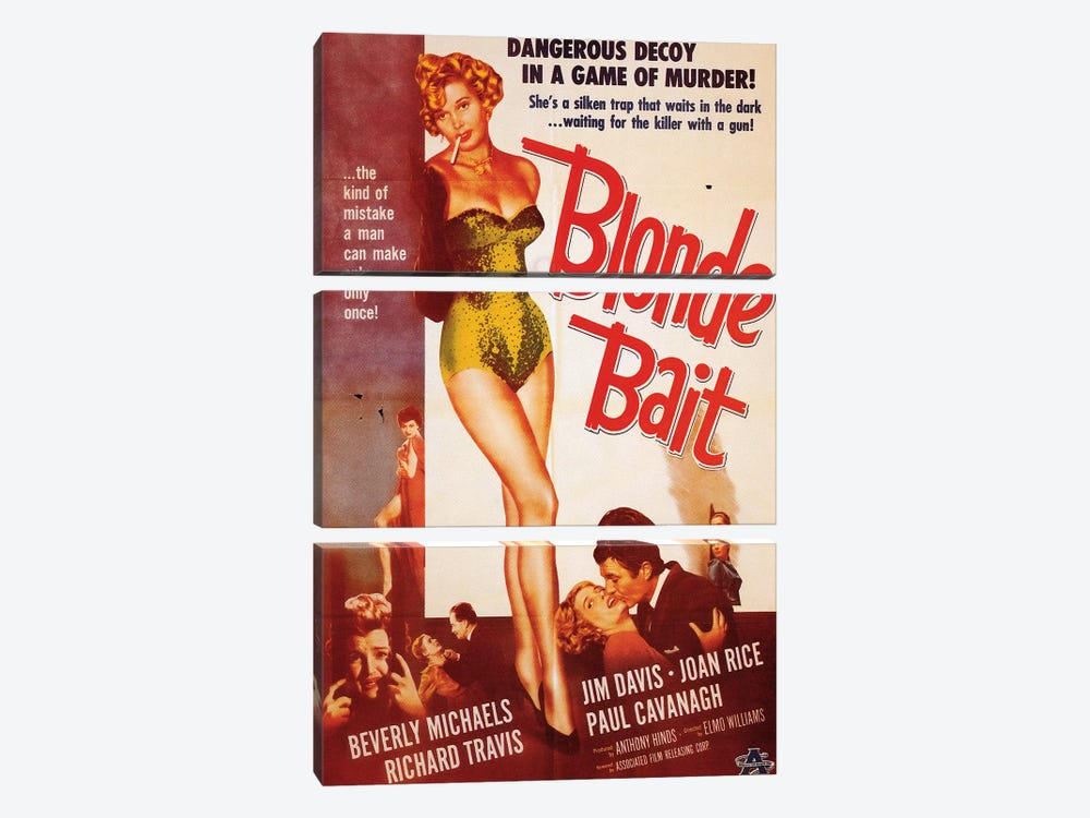Blonde Bait Film Poster by Radio Days 3-piece Canvas Wall Art