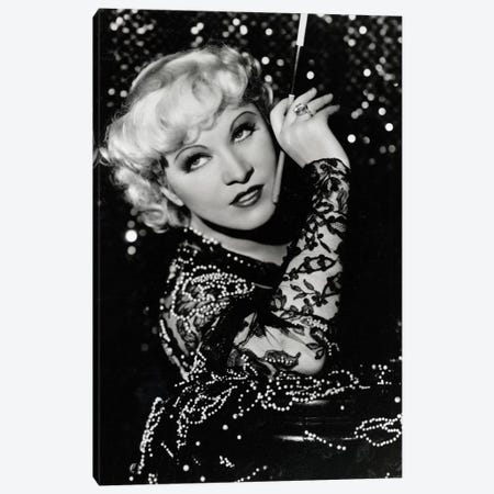 Mae West Over The Shoulder Pose Canvas Print #RAD30} by Radio Days Art Print