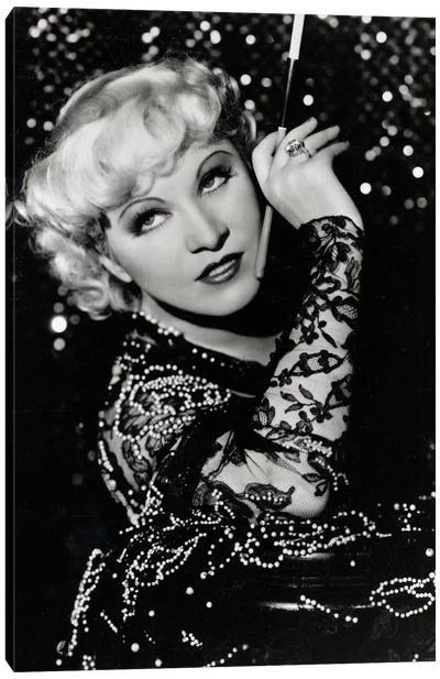 Mae West Over The Shoulder Pose Canvas Art Print