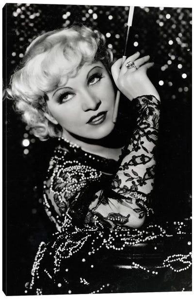 Mae West Over The Shoulder Pose Canvas Art Print