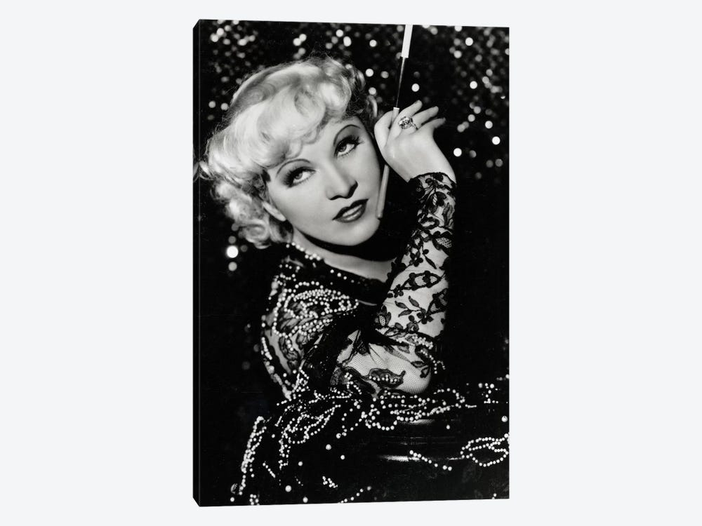 Mae West Over The Shoulder Pose by Radio Days 1-piece Art Print