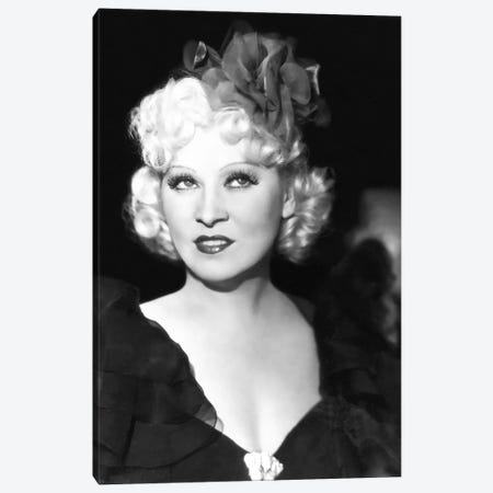 Mae West With A Glamorous Hair Bow Canvas Print #RAD31} by Radio Days Canvas Art Print